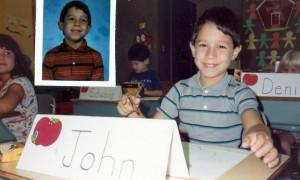 NY Times bestselling author John Sazaklis as a first grader at Fork Lane School in Hicksville.